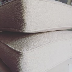 Piped box cushions