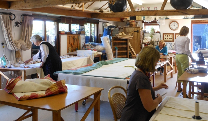 Inside the upholstery workshop